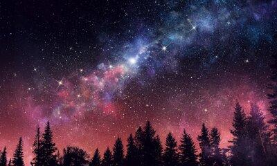 Фотообои Старое ясное ночное небо. Смешанная среда