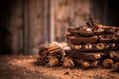 Фотообои Натюрморт сломанного шоколада