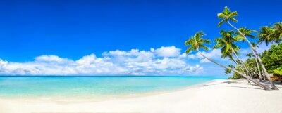 Фотообои Пляжная панорама с морем и пальмами