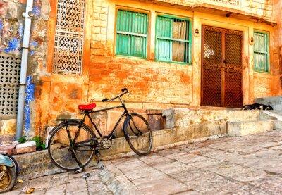 Фотообои Просмотр улиц старых кварталов в городе Джодхпур в Индии