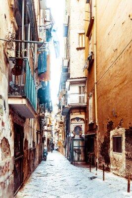 Фотообои Просмотр улиц старого города в городе Неаполь