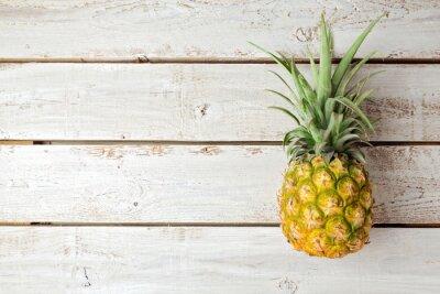 Фотообои Летний фон с ананасом на деревянной доске