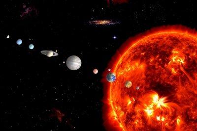 Фотообои Sun System, элементы оборудованы НАСА