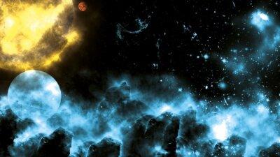 Фотообои Sun / Galaxy Spacefog