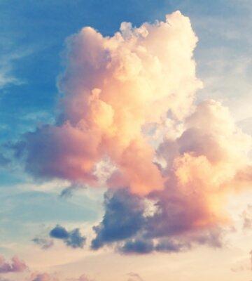 Фотообои Солнечный фон неба в винтажном стиле ретро