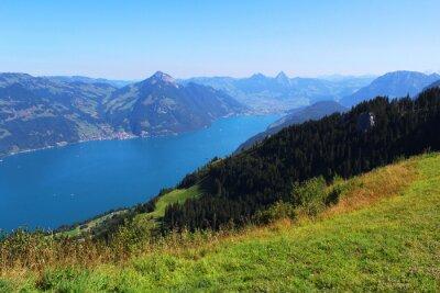 Фотообои  Switzerland, mountain and lake