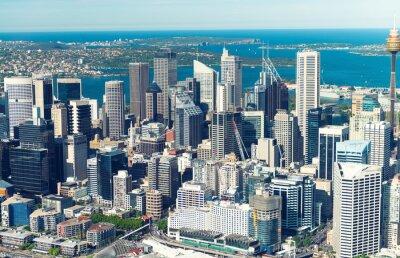 Фотообои Сидней. высоты птичьего полета из вертолета