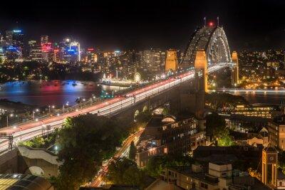 Фотообои Sydney Harbour Bridge в ночное время