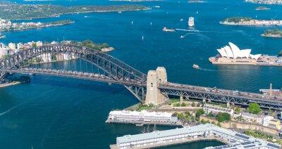 Фотообои Sydney Harbour. Потрясающие с высоты птичьего полета на солнечный день
