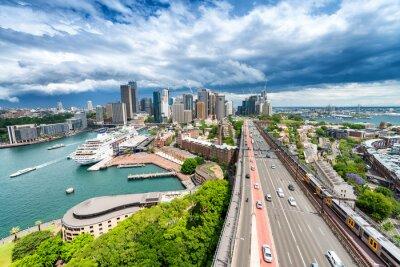 Фотообои СИДНЕЙ - 7 ноября 2015 г. Панорамный вид на город. Сидней привлекает