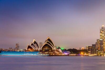 Фотообои СИДНЕЙ - 12 октября 2015: Знаменитый Сиднейский оперный театр является мю