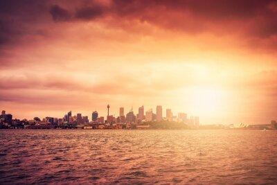 Фотообои Сидней горизонта на закате