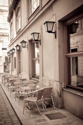 Фотообои Столы и стулья в кафе