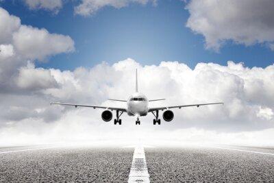 Фотообои взлет самолет в аэропорту