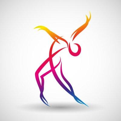 Фотообои taniec логотип Wektor