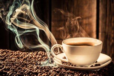 Фотообои Taste coffee cup with roasted seeds