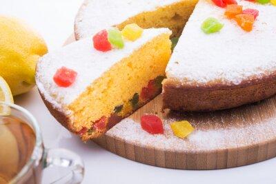 Фотообои Вкусный пирог с мармелад