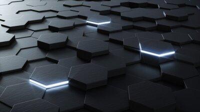 Фотообои Технический 3D гексагональной фона