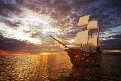 Фотообои The ancient ship in the sea