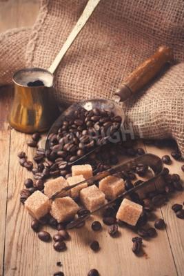 Фотообои Ингредиенты и посуда для приготовления кофе