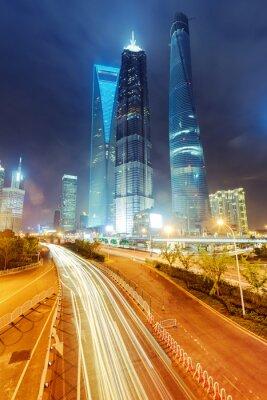 Фотообои свет тропы на фоне современное здание в Шанхае, C