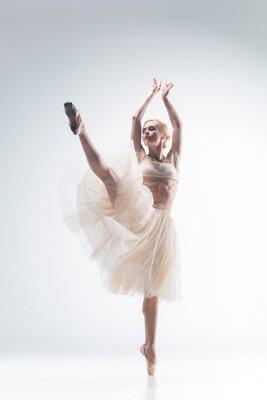 Фотообои Силуэт балерины на белом фоне