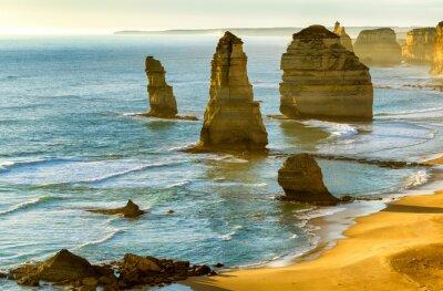 Фотообои Двенадцать апостолов на закате вдоль Great Ocean Road, Виктория -