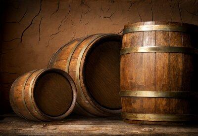 Фотообои Три деревянные бочки