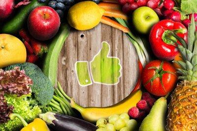 Фотообои THUMBS UP для фруктов и овощей