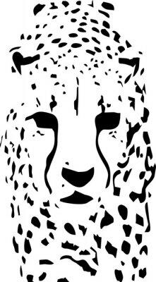 Фотообои тигр поп-арт черно-белый