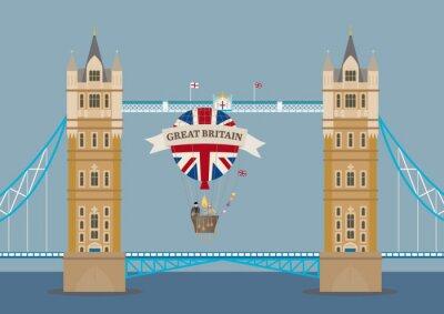 Фотообои Тауэрский мост в Лондоне с воздушном шаре