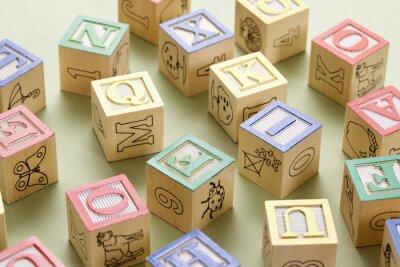 Фотообои Игрушка строительных блоков.