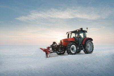 Фотообои Трактор очистки снега