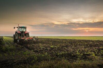 Фотообои Трактор пашет поле