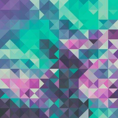 Фотообои Triangle background, green and violet