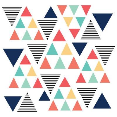 Фотообои Треугольник цветной образец изменения