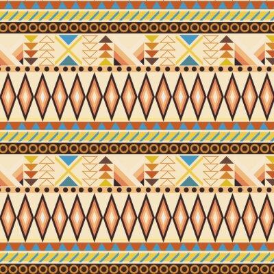 Фотообои Tribal ethnic seamless stripe pattern. swatches included.