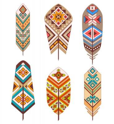 Фотообои Племенные перья с этнической картины