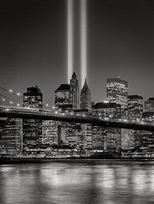 Фотообои Дань в свете, 11 сентября поминовения, Нью-Йорк