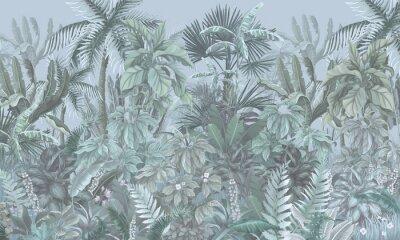 Фотообои Tropical forest, jungle, blue