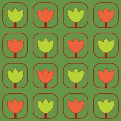 Фотообои Образцы Тюльпаны ткани