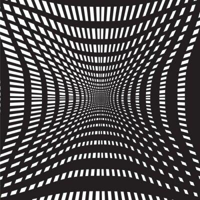 Фотообои Туннель черно-белый абстрактный фон