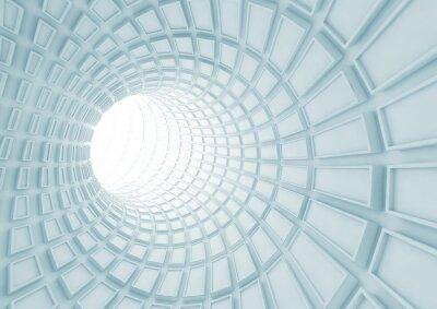 Фотообои Синеет интерьер туннеля с экструдированной плитки