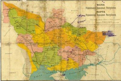 Фотообои Украина старинные карты