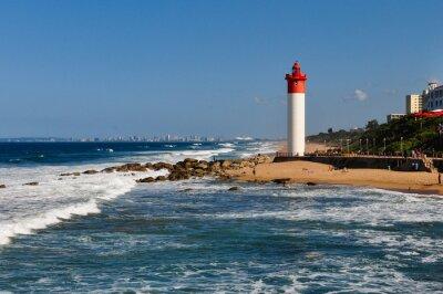 Фотообои Umhlanga Leuchtturm мит Дурбан ALS Hintergrund; Südafrika