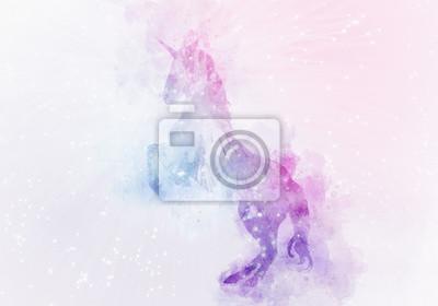 Фотообои магия акварельной магии единорога