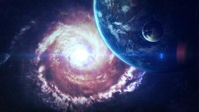 Фотообои Вселенная сцены с планет, звезд и галактик в космическом пространстве, показывая красоту освоения космоса. Элементы, предоставляемые НАСА