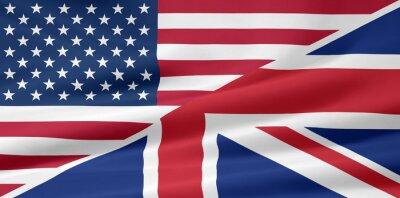 Фотообои США - Великобритания - Flagge