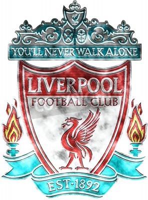 Фотообои Used badge of FC Liverpool