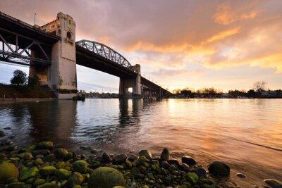 Фотообои Ванкувер исторический Беррард мост в зимний закат